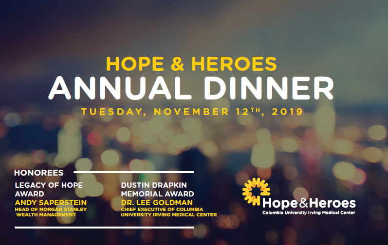 Join us at our annual dinner to benefit children's cancer