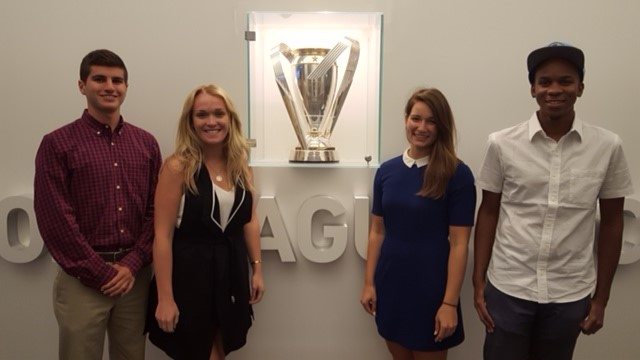 Kenneth Nurse, far right, with his fellow  interns at MLS