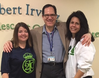 Laura Fernandez, right, with friend Kathy Conigliaro and Jeremy Shatan of Hope & Heroes