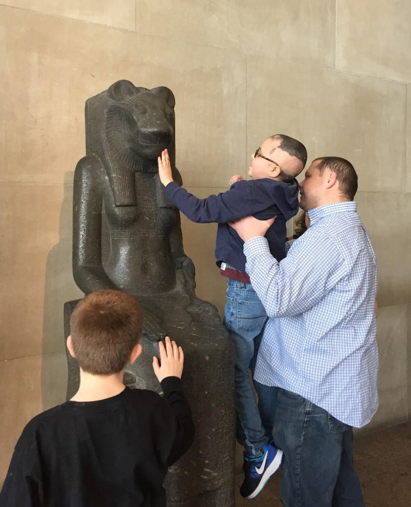 Owen's Art Experience with Sakhmet