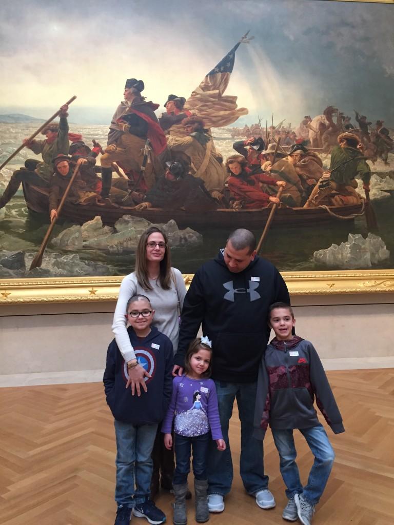 Owen's Art Experience - his family and Washington