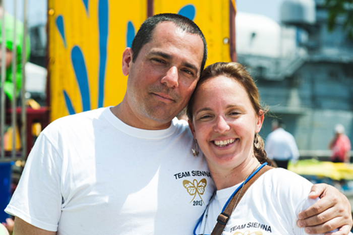 Co-Chair of the Hope & Heroes Walk, Patty Cavallo and her husband, Joe Cavallo
